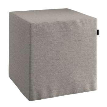 Pokrowiec na pufę kostke kostka 40x40x40 cm w kolekcji Edinburgh, tkanina: 115-77