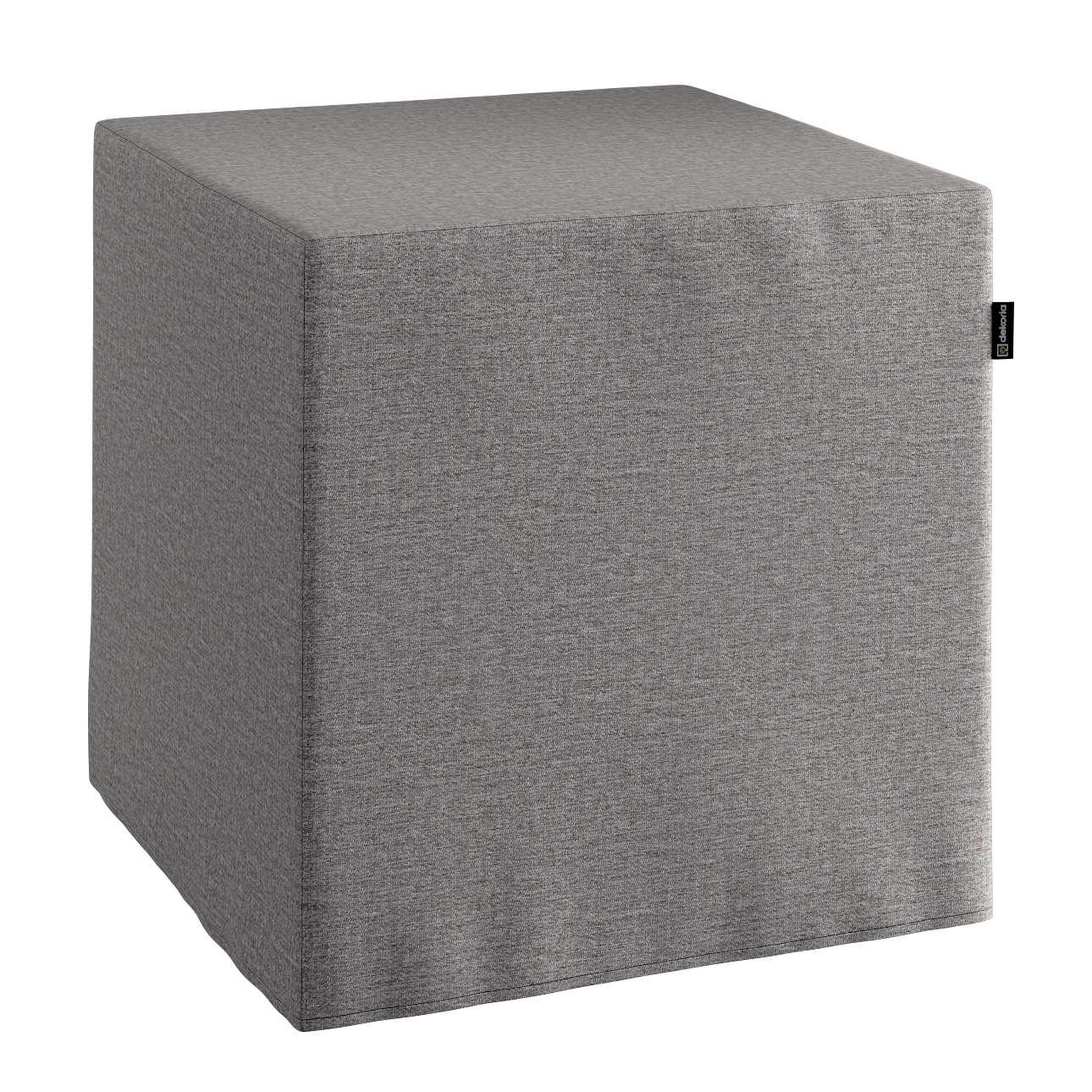 Pokrowiec na pufę kostke kostka 40x40x40 cm w kolekcji Edinburgh, tkanina: 115-81