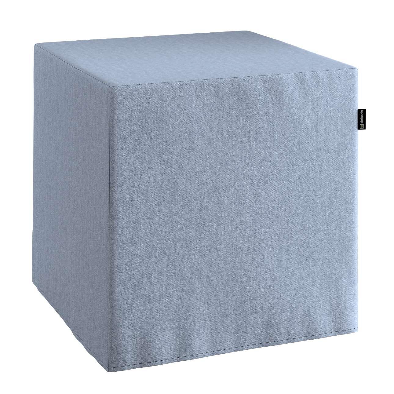 Bezug für Sitzwürfel Bezug für Sitzwürfel 40x40x40 cm von der Kollektion Chenille , Stoff: 702-13