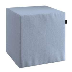Pokrowiec na pufę kostke kostka 40x40x40 cm w kolekcji Chenille, tkanina: 702-13