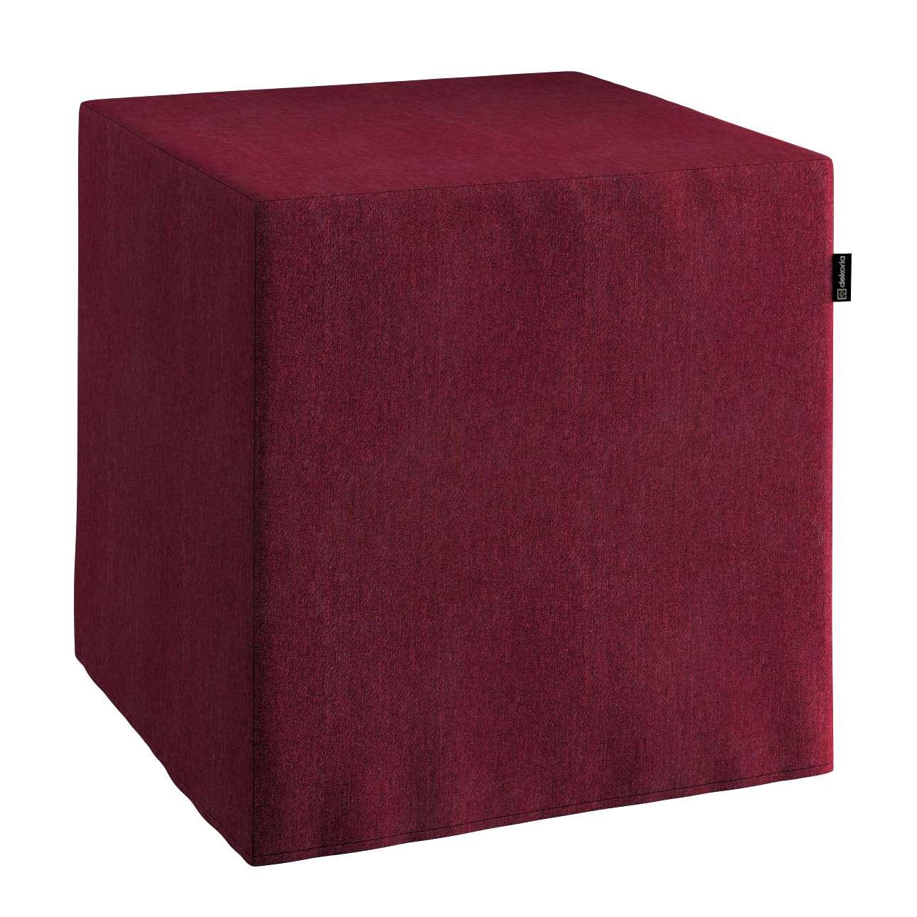 Pokrowiec na pufę kostke w kolekcji Chenille, tkanina: 702-19