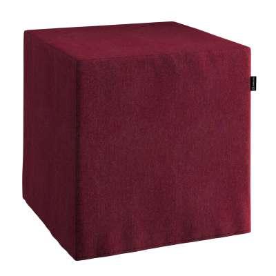 Pokrowiec na pufę kostkę w kolekcji Chenille, tkanina: 702-19