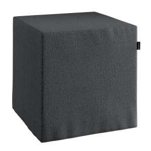 Pokrowiec na pufę kostke kostka 40x40x40 cm w kolekcji Chenille, tkanina: 702-20