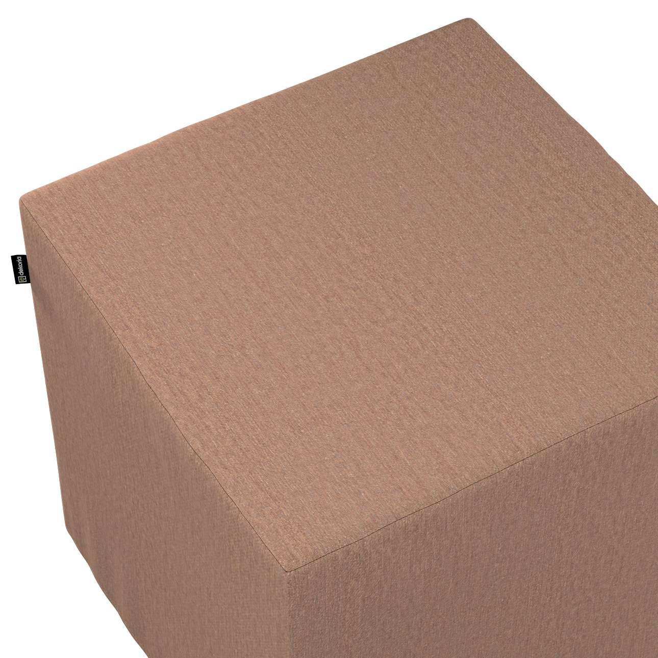 Pokrowiec na pufę kostkę w kolekcji Chenille, tkanina: 702-21