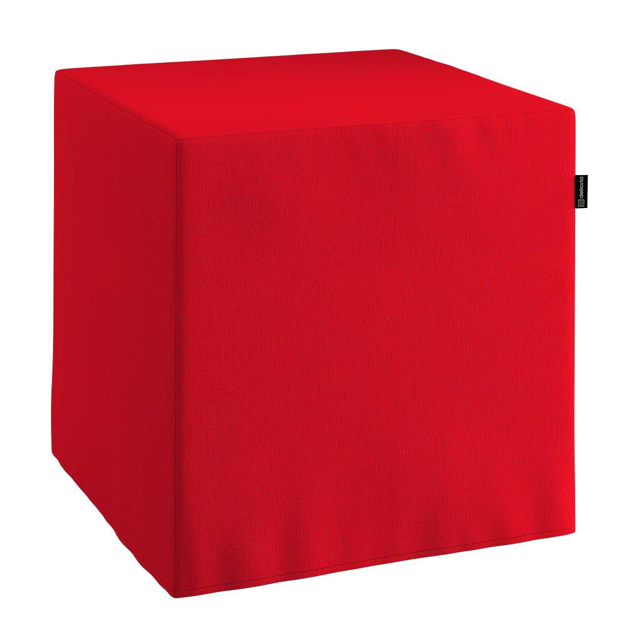 Pokrowiec na pufę kostke kostka 40x40x40 cm w kolekcji Chenille, tkanina: 702-24