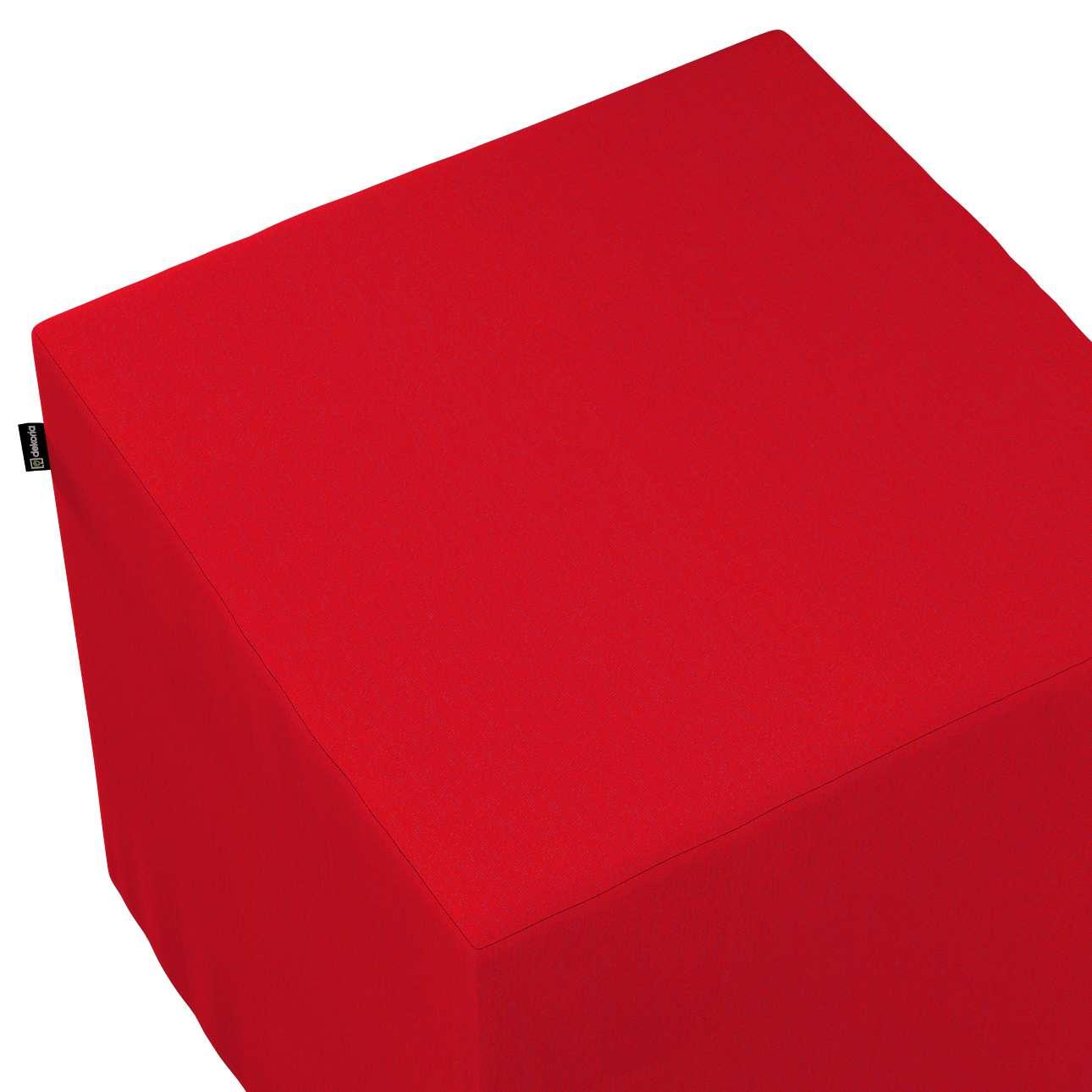 Betræk til siddepuf fra kollektionen Chenille, Stof: 702-24