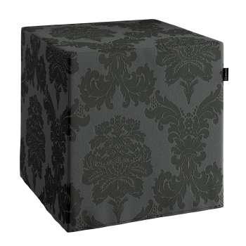 Pokrowiec na pufę kostke kostka 40x40x40 cm w kolekcji Damasco, tkanina: 613-32