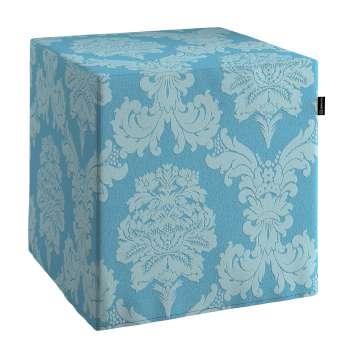 Pokrowiec na pufę kostke kostka 40x40x40 cm w kolekcji Damasco, tkanina: 613-67