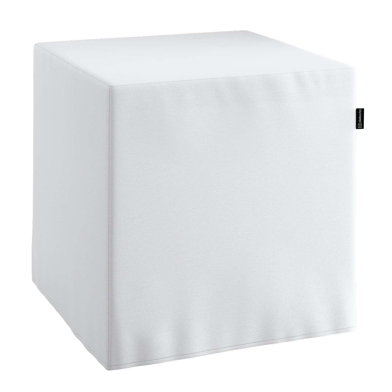 Pokrowiec na pufę kostke kostka 40x40x40 cm w kolekcji Loneta, tkanina: 133-02