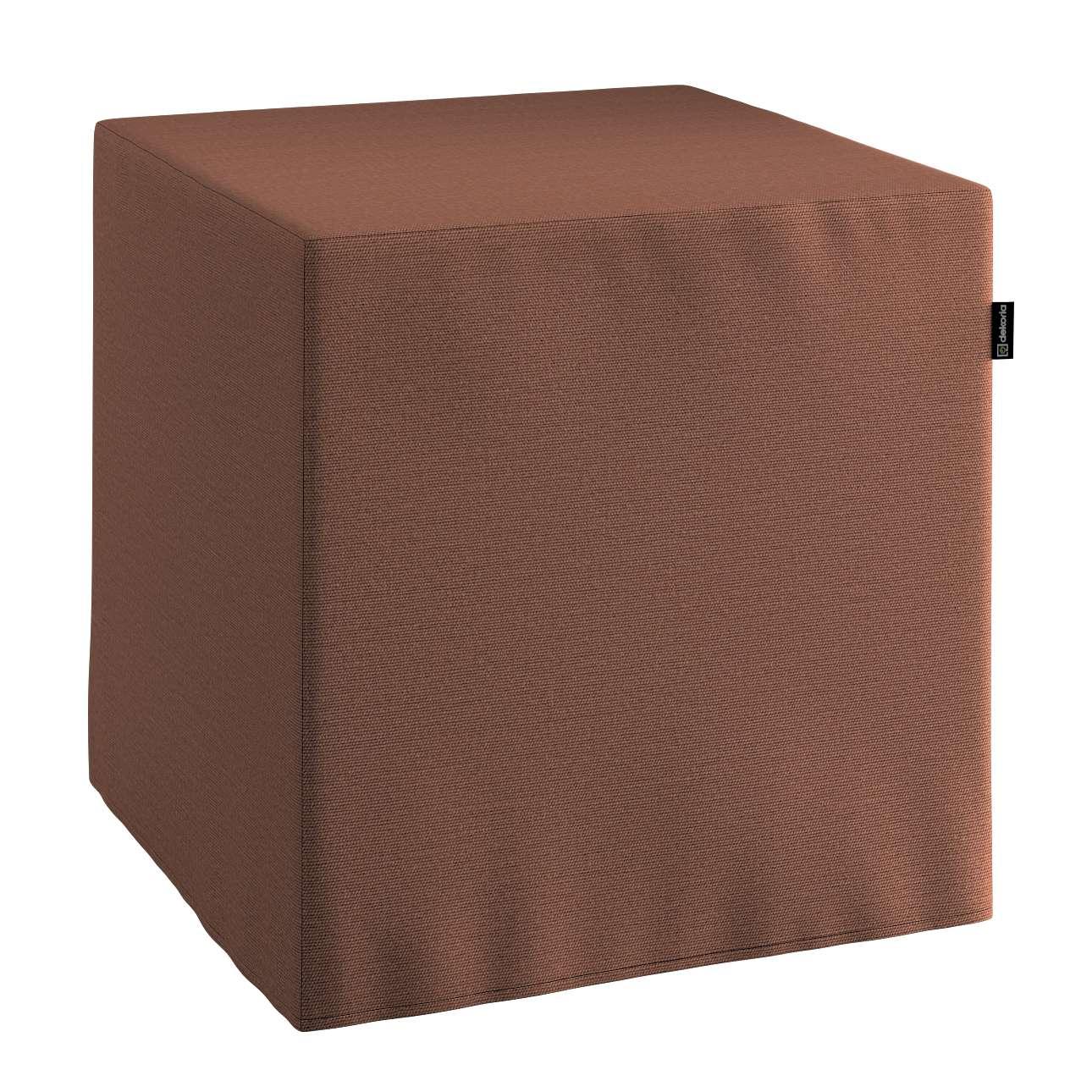 Pokrowiec na pufę kostke kostka 40x40x40 cm w kolekcji Loneta, tkanina: 133-09