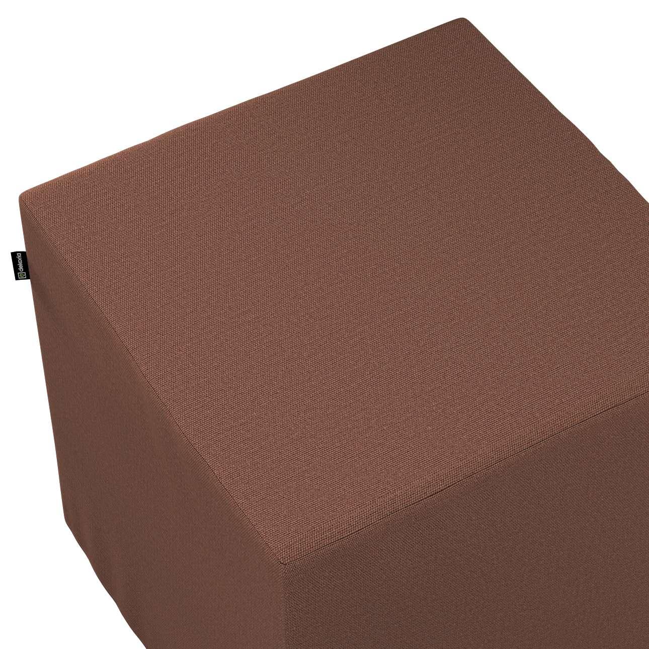 Pokrowiec na pufę kostkę w kolekcji Loneta, tkanina: 133-09