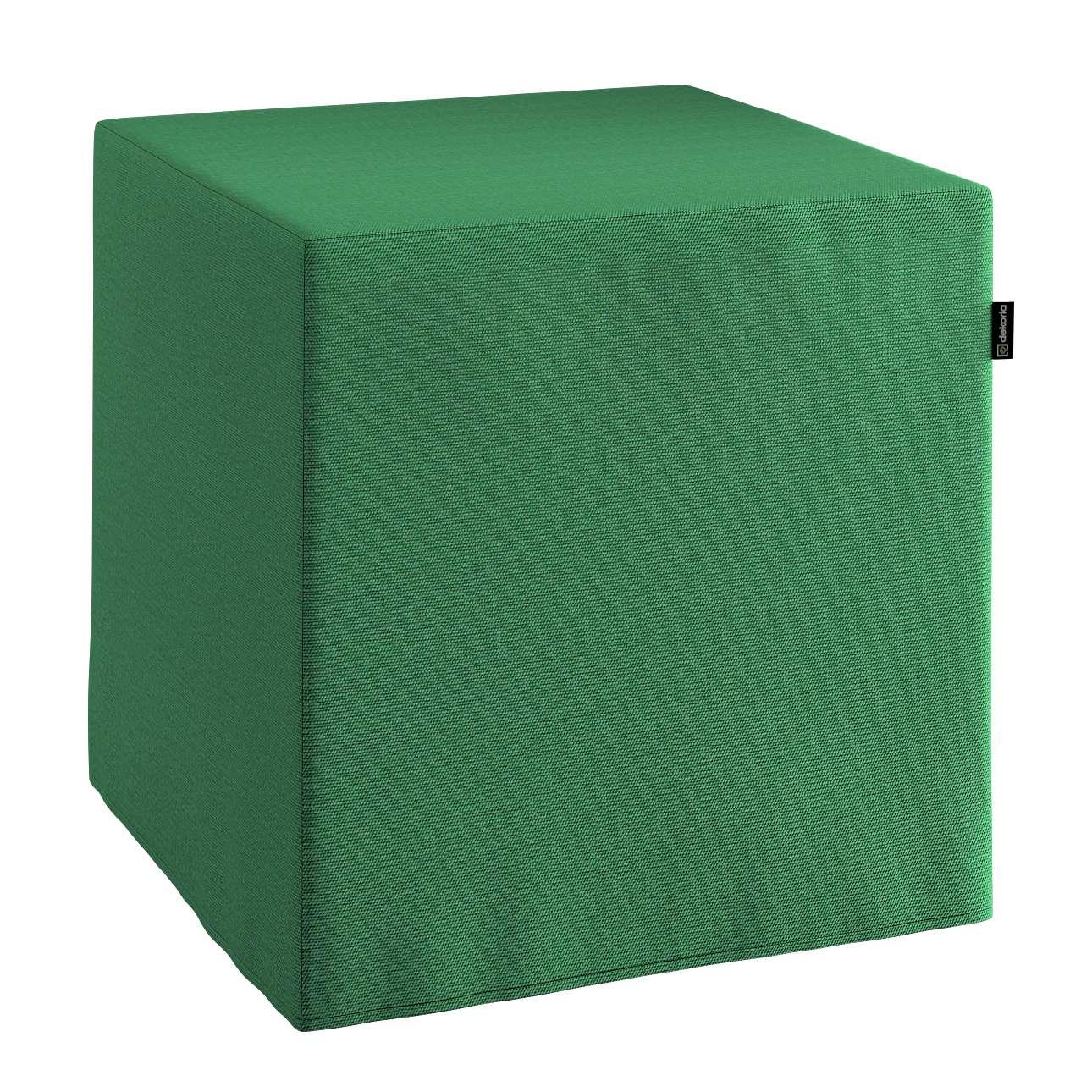 Pokrowiec na pufę kostke kostka 40x40x40 cm w kolekcji Loneta, tkanina: 133-18
