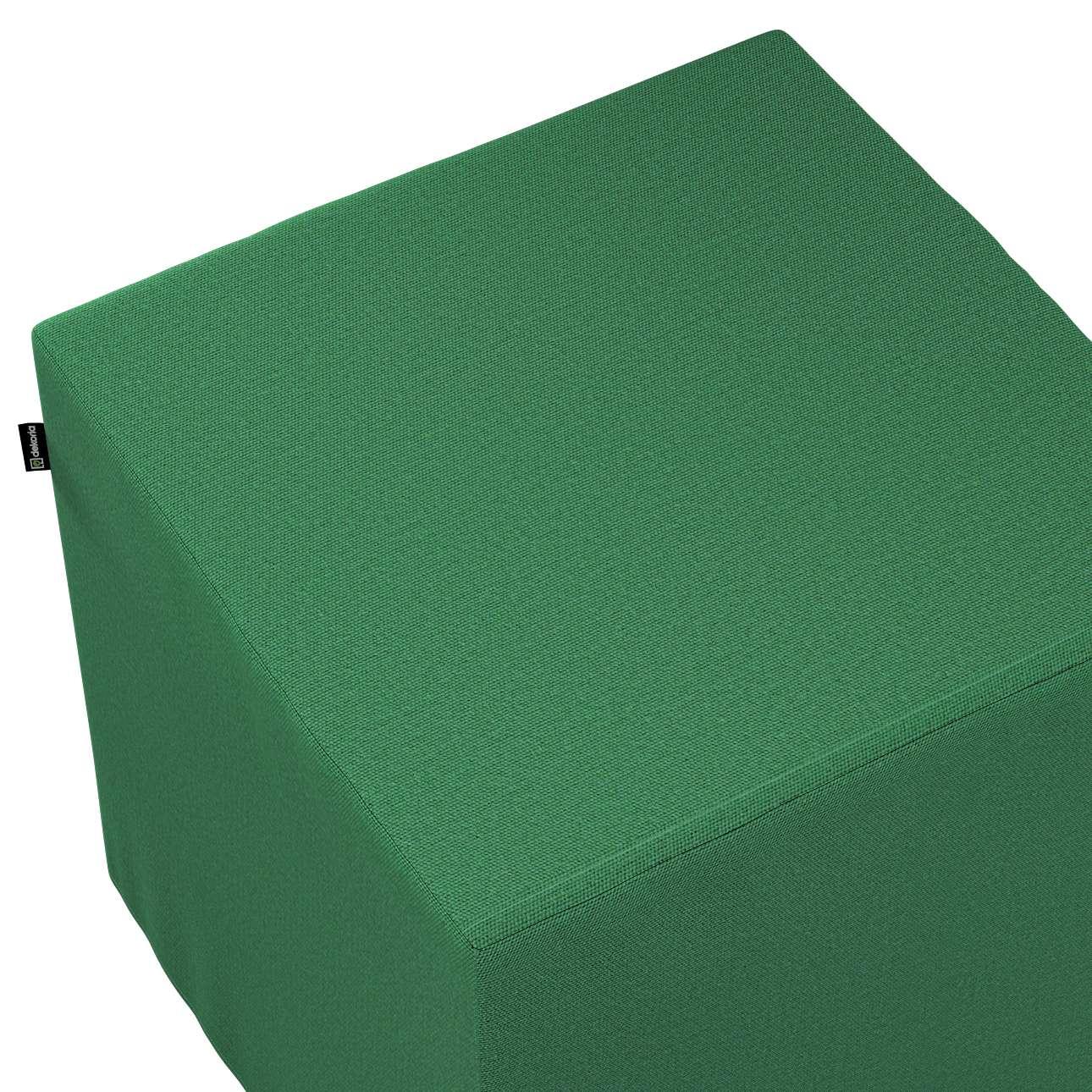 Pokrowiec na pufę kostkę w kolekcji Loneta, tkanina: 133-18