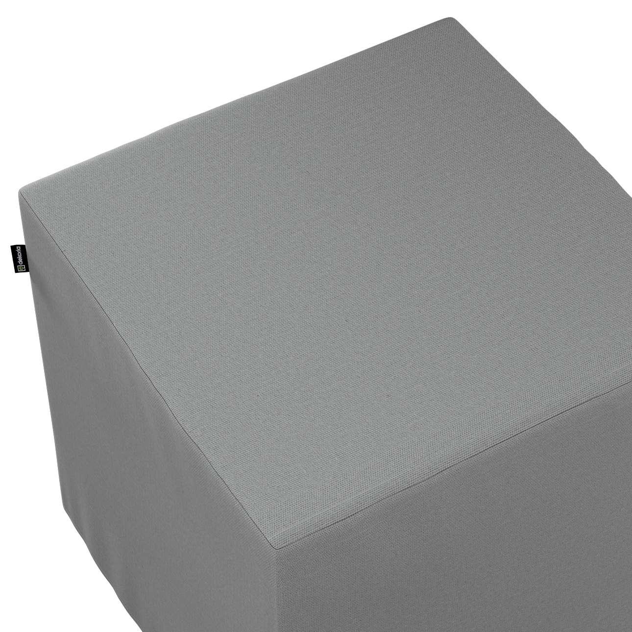 Pokrowiec na pufę kostkę w kolekcji Loneta, tkanina: 133-24