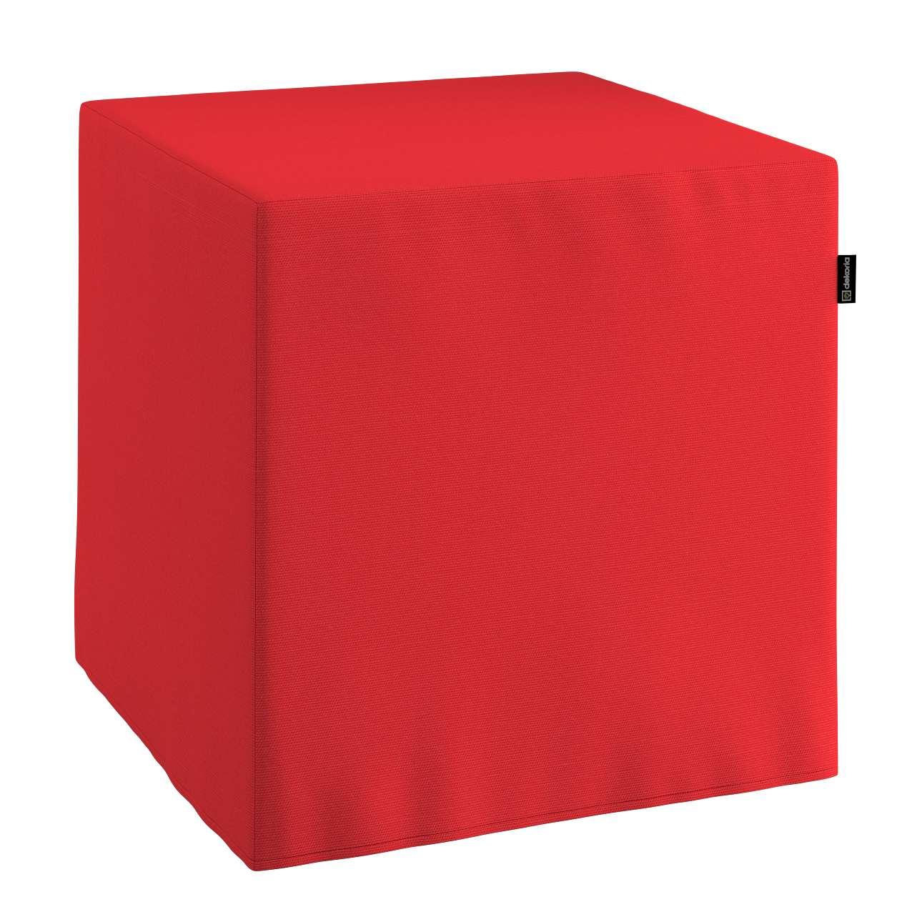 Pokrowiec na pufę kostke kostka 40x40x40 cm w kolekcji Loneta, tkanina: 133-43