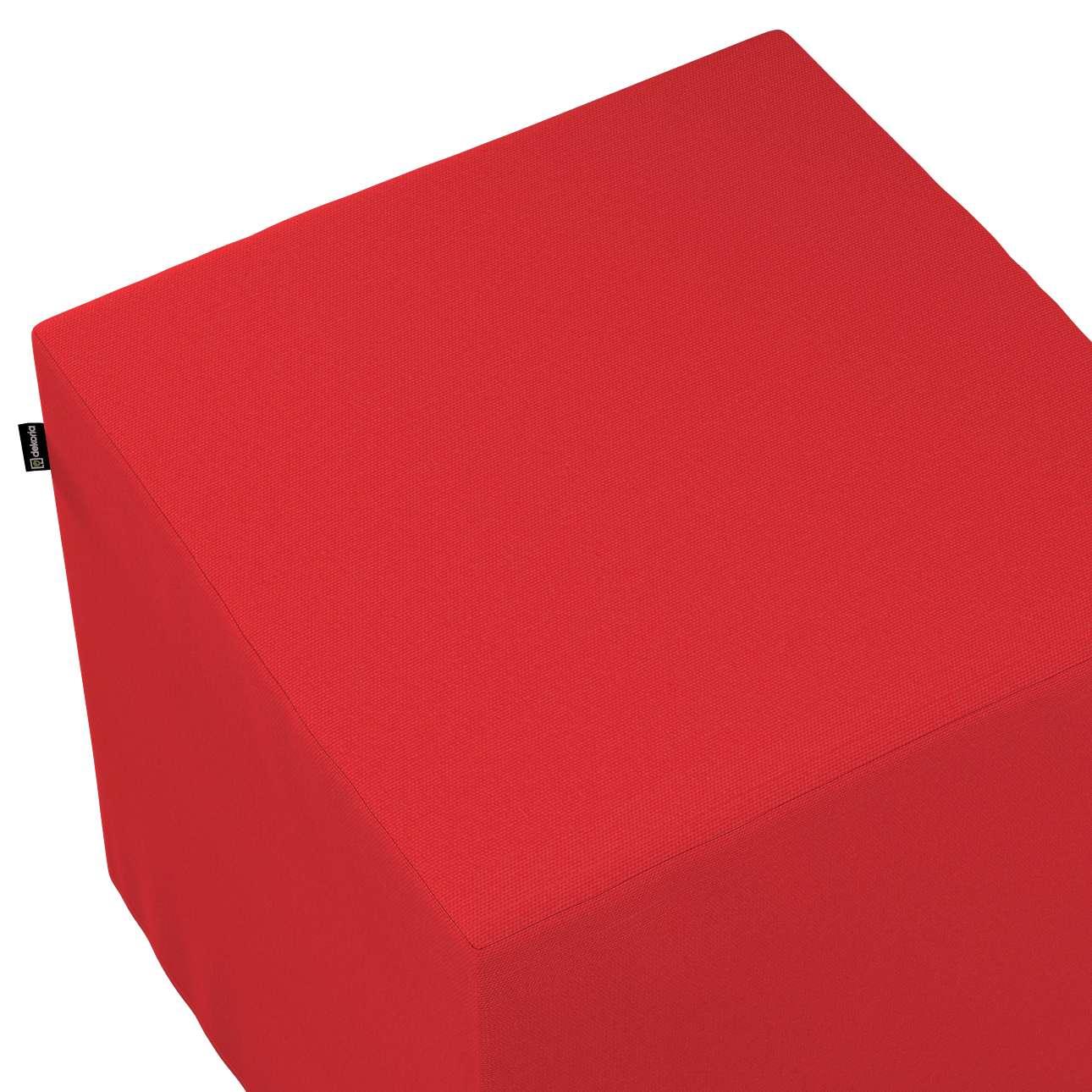 Pokrowiec na pufę kostkę w kolekcji Loneta, tkanina: 133-43