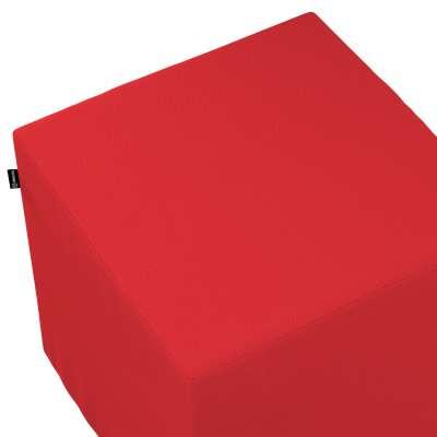 Poťah na taburetku,kocka 133-43 červená Kolekcia Loneta
