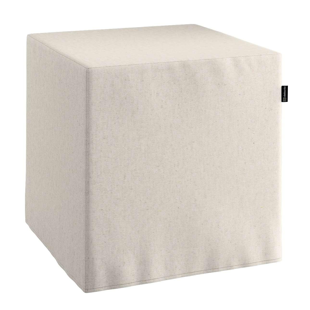 Pokrowiec na pufę kostke kostka 40x40x40 cm w kolekcji Loneta, tkanina: 133-65