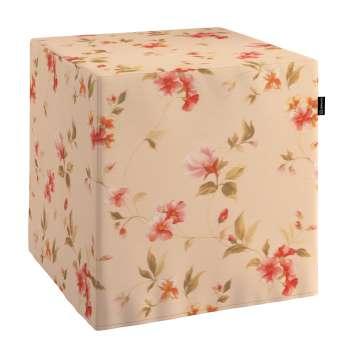 Pokrowiec na pufę kostke kostka 40x40x40 cm w kolekcji Londres, tkanina: 124-05