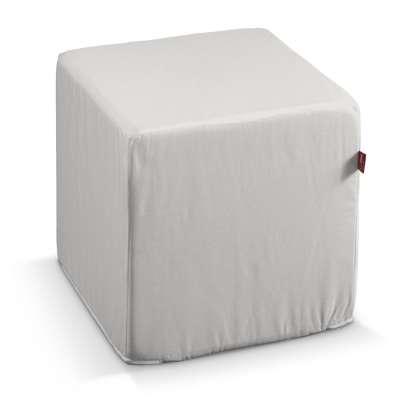 Pokrowiec na pufę kostkę 705-01 kremowa biel Kolekcja Etna