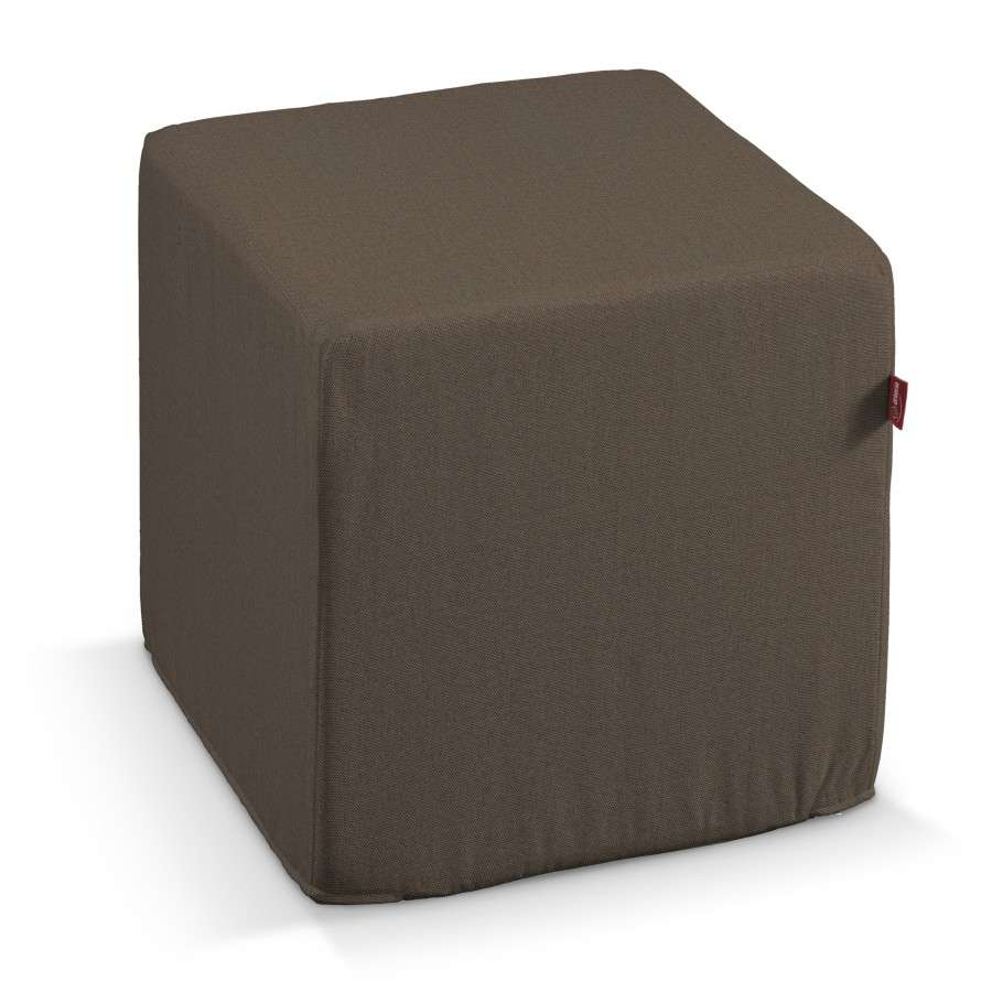 Pokrowiec na pufę kostke w kolekcji Etna , tkanina: 705-08