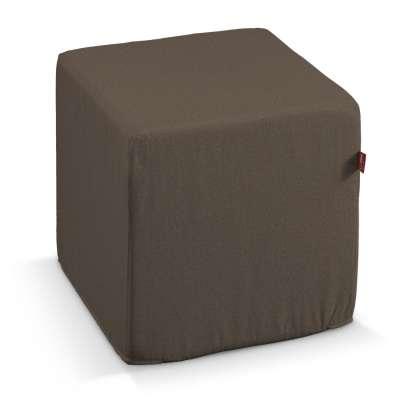 Pokrowiec na pufę kostkę 705-08 brązowy Kolekcja Etna