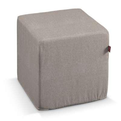 Pokrowiec na pufę kostkę w kolekcji Etna, tkanina: 705-09