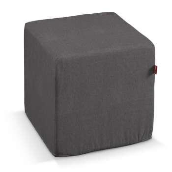 Pokrowiec na pufę kostke kostka 40x40x40 cm w kolekcji Etna , tkanina: 705-35