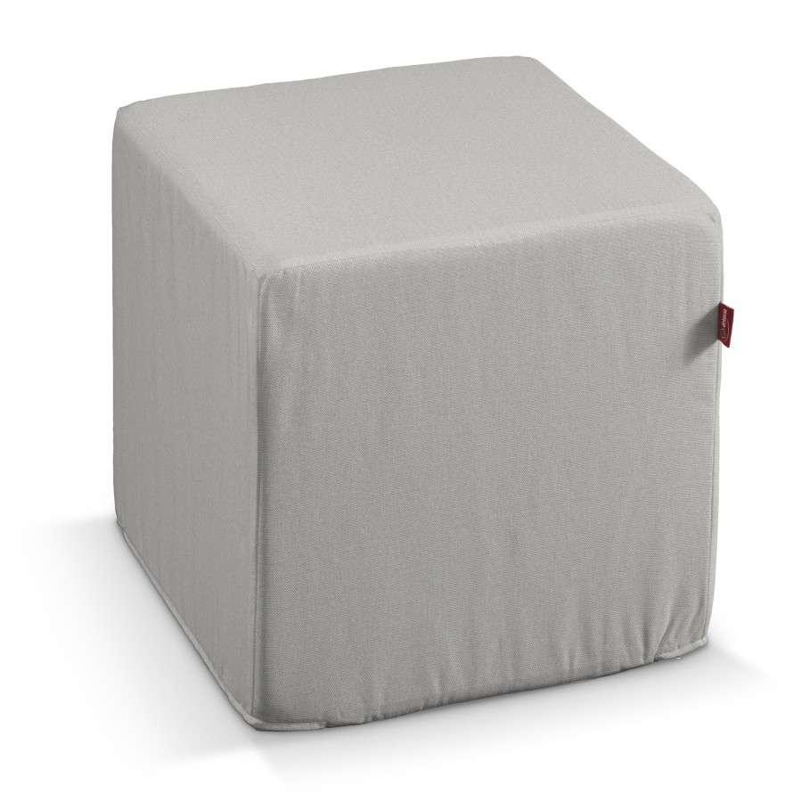 Pokrowiec na pufę kostke kostka 40x40x40 cm w kolekcji Etna , tkanina: 705-90