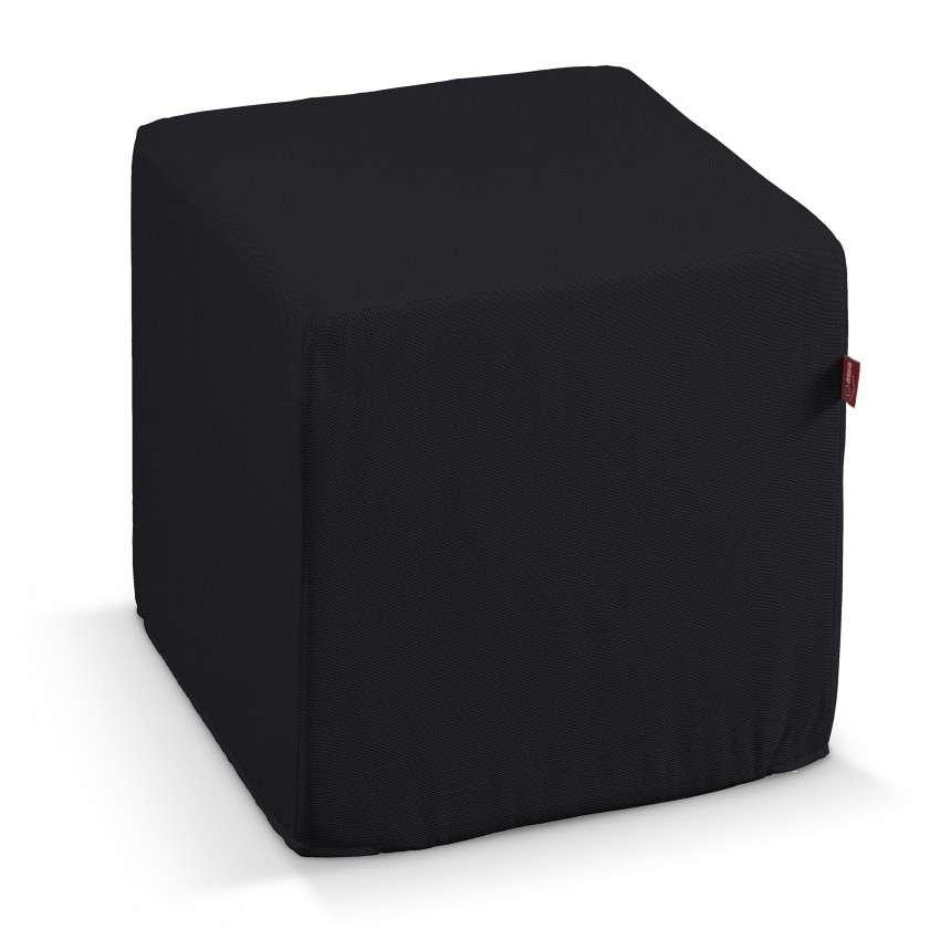 Pokrowiec na pufę kostke kostka 40x40x40 cm w kolekcji Etna , tkanina: 705-00