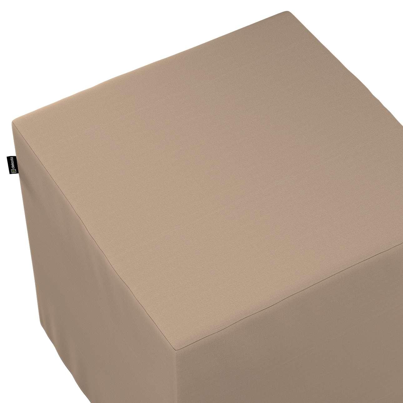 Bezug für Sitzwürfel von der Kollektion Cotton Panama, Stoff: 702-28