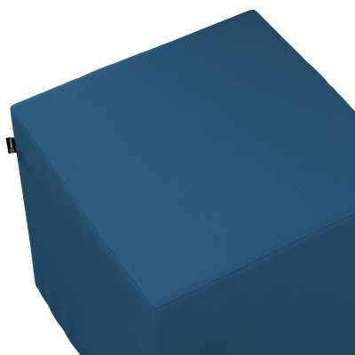 Poťah na taburetku,kocka 702-30 modrá morská Kolekcia Cotton Panama