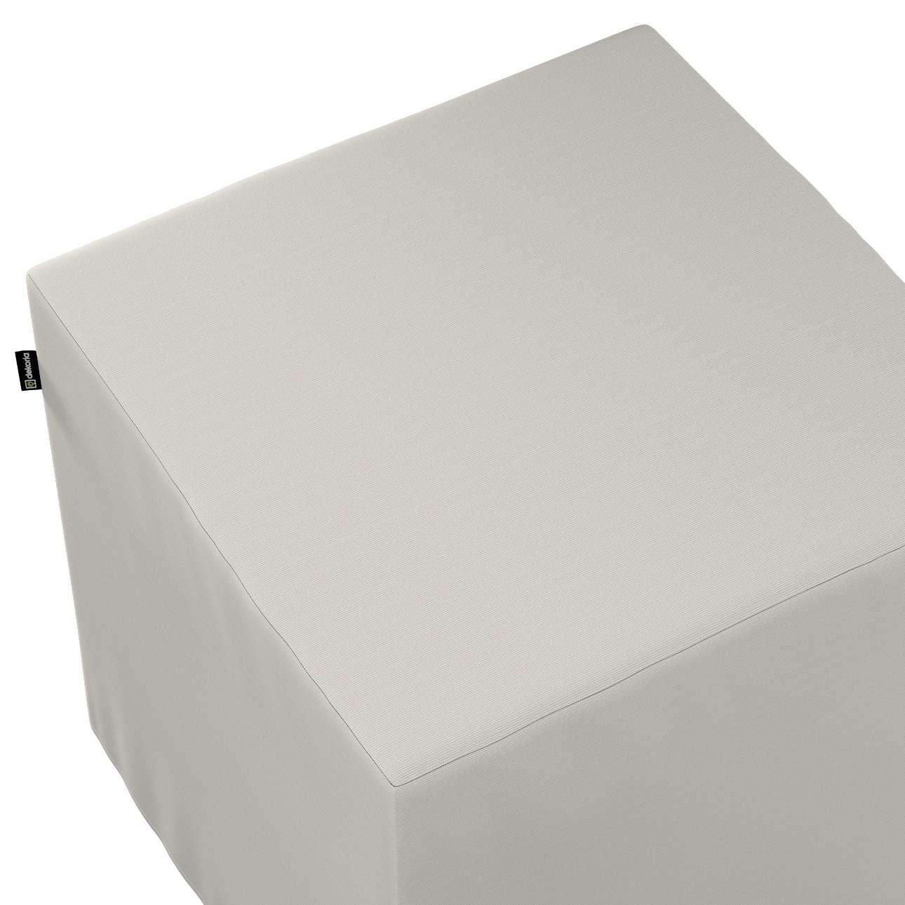 Pokrowiec na pufę kostkę w kolekcji Cotton Panama, tkanina: 702-31
