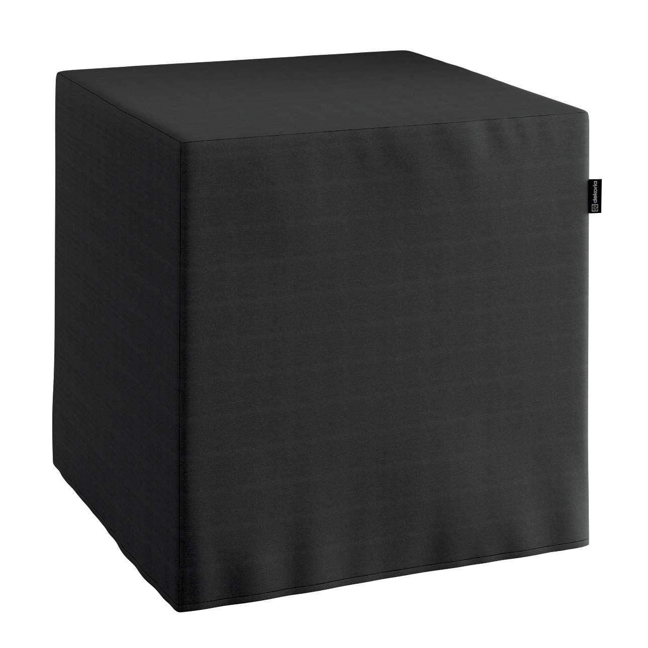 Bezug für Sitzwürfel, schwarz, Bezug für Sitzwürfel 40x40x40 cm, Jupiter | Wohnzimmer > Hocker & Poufs > Sitzwürfel | Dekoria