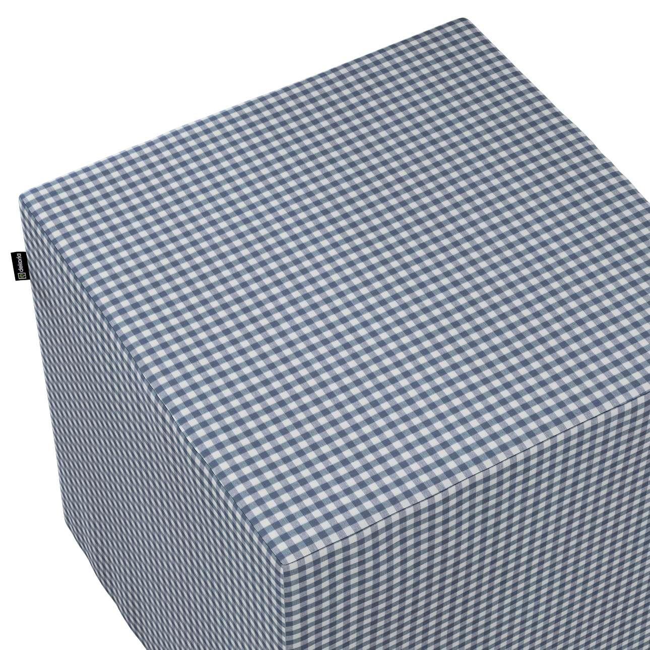 Pokrowiec na pufę kostkę w kolekcji Quadro, tkanina: 136-00