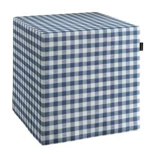 Pufo užvalkalas 40x40x40 cm kubas kolekcijoje Quadro, audinys: 136-01