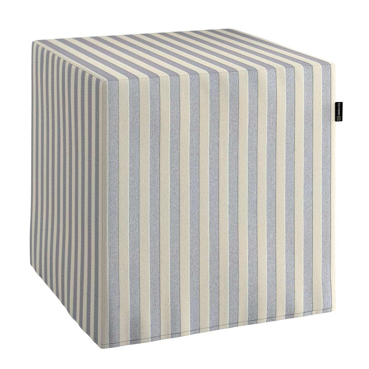 Pokrowiec na pufę kostke kostka 40x40x40 cm w kolekcji Quadro, tkanina: 136-02