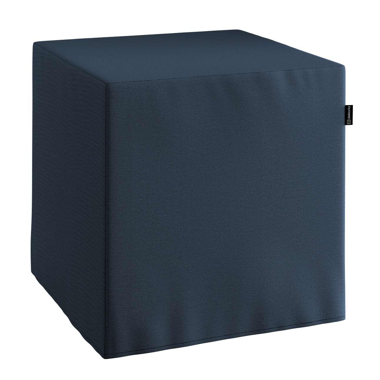 Pokrowiec na pufę kostke kostka 40x40x40 cm w kolekcji Quadro, tkanina: 136-04