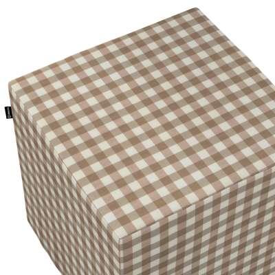 Pokrowiec na pufę kostkę w kolekcji Quadro, tkanina: 136-06