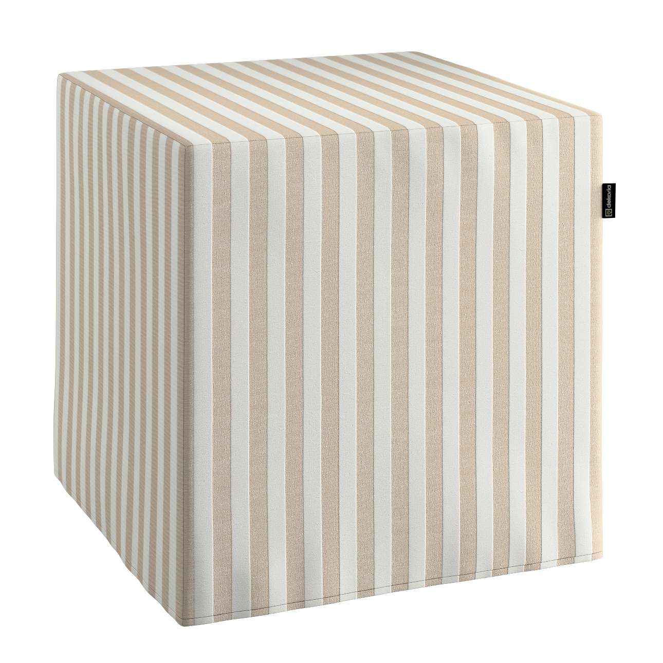 Pufo užvalkalas 40x40x40 cm kubas kolekcijoje Quadro, audinys: 136-07