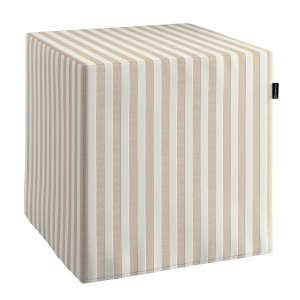 Pokrowiec na pufę kostke kostka 40x40x40 cm w kolekcji Quadro, tkanina: 136-07