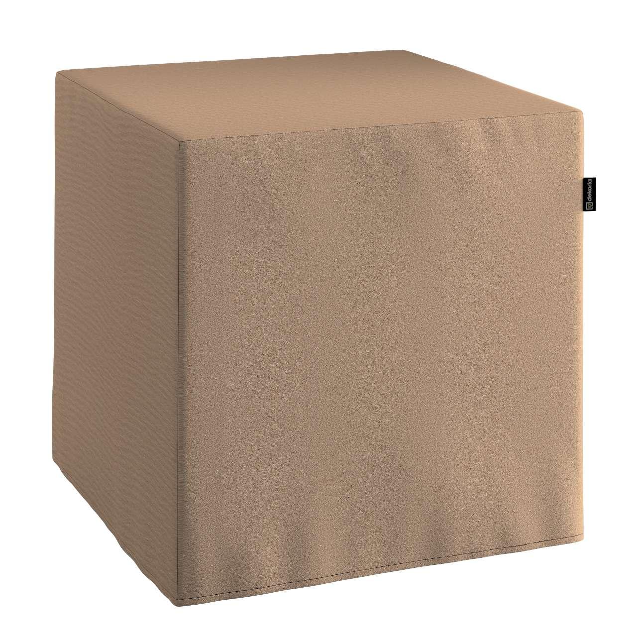 Pokrowiec na pufę kostke kostka 40x40x40 cm w kolekcji Quadro, tkanina: 136-09