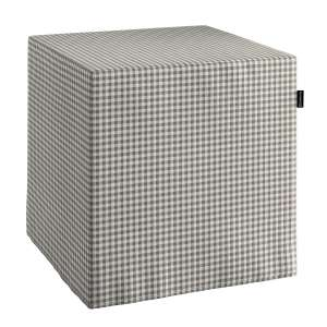 Pokrowiec na pufę kostke kostka 40x40x40 cm w kolekcji Quadro, tkanina: 136-10
