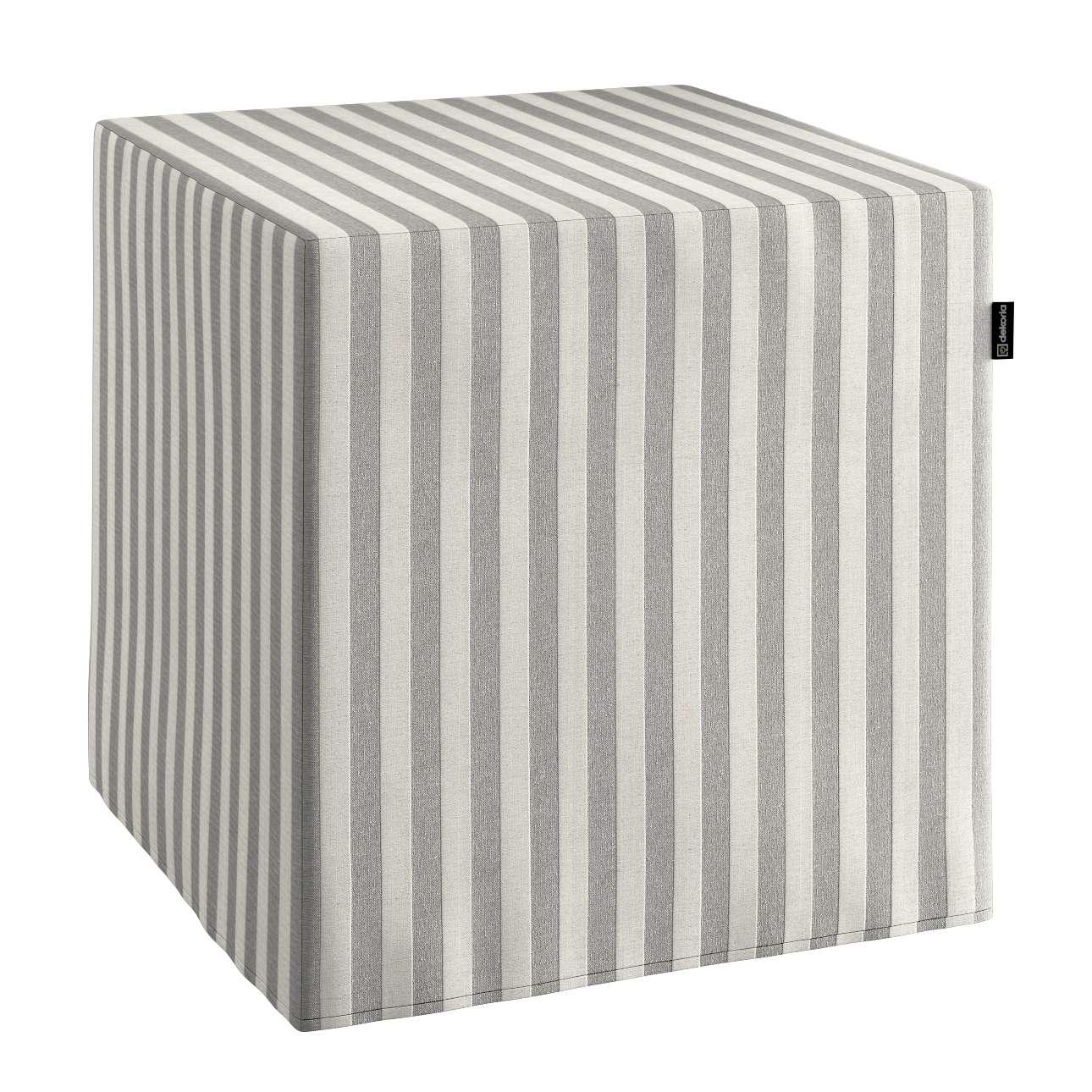 Bezug für Sitzwürfel Bezug für Sitzwürfel 40x40x40 cm von der Kollektion Quadro, Stoff: 136-12
