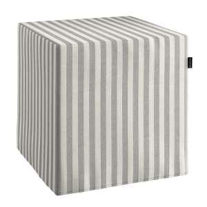 Pokrowiec na pufę kostke kostka 40x40x40 cm w kolekcji Quadro, tkanina: 136-12