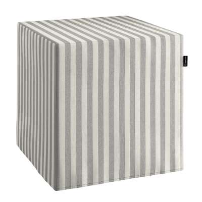 Pokrowiec na pufę kostkę w kolekcji Quadro, tkanina: 136-12