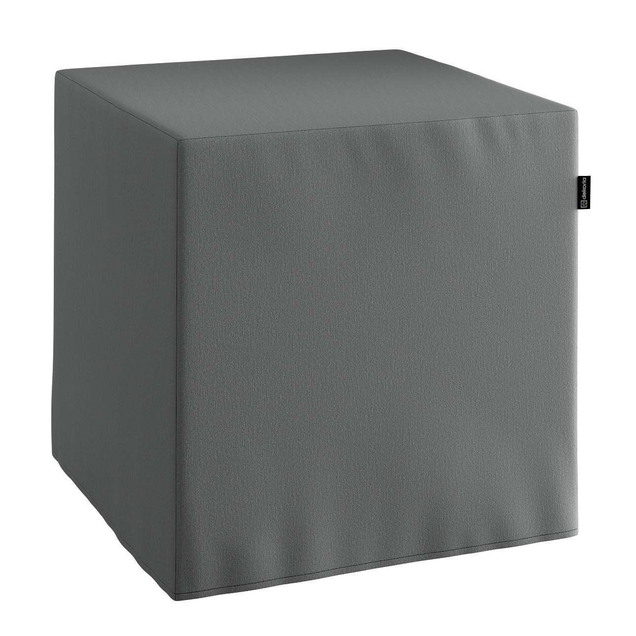 Pokrowiec na pufę kostke kostka 40x40x40 cm w kolekcji Quadro, tkanina: 136-14