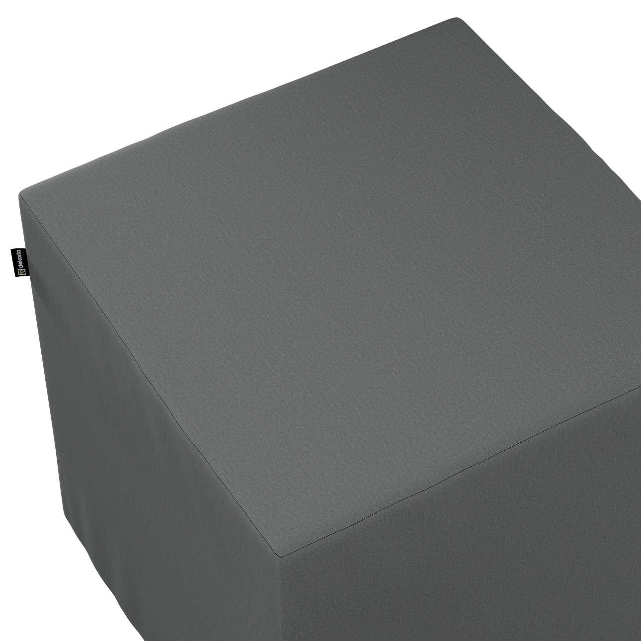Pokrowiec na pufę kostkę w kolekcji Quadro, tkanina: 136-14