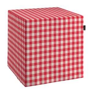Pokrowiec na pufę kostke kostka 40x40x40 cm w kolekcji Quadro, tkanina: 136-16