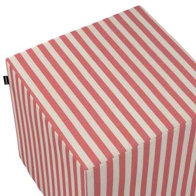 Pokrowiec na pufę kostkę w kolekcji Quadro, tkanina: 136-17